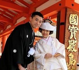 ~故郷挙式に相良刺繍の白無垢~ Natsuki and Fumiko  厳島神社