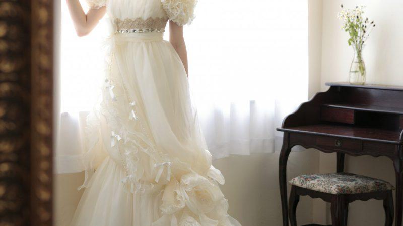 白ドレス W-007