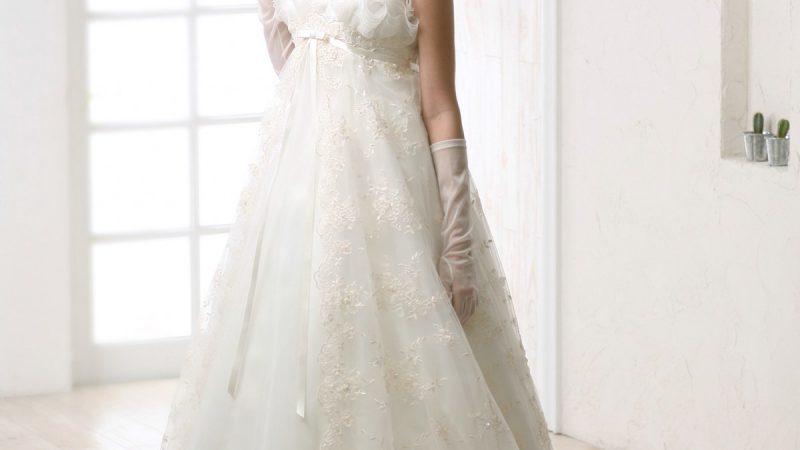 白ドレス W-008