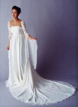 白ドレス W-009