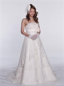白ドレス W-012