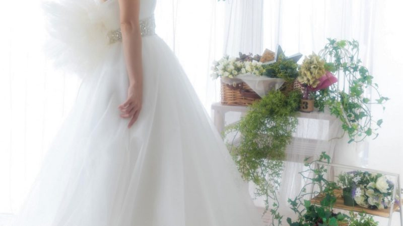 白ドレス W-013