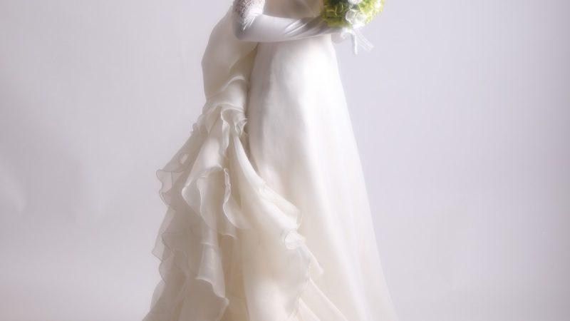白ドレス W-014